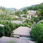 Вид с балкона отеля (номер с видом на горы)