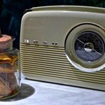 Antique radio set.