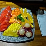 Welcome fruit platter.