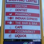 business amongst the few shops