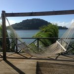 hammocks and view