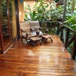 Private deck on the casita