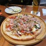 お好み焼き風ピザ