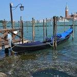 A moored gondola