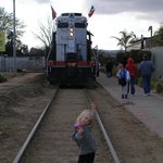 In front of the train in Tecate