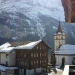 View from the balcony towards Eiger