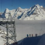 Schilthorn and the thrilling black piste down to Birg