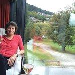Enjoying canapés and wine!