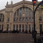 Gare Du Nord - right opposite the hotel.