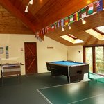 Well equipped games room with 3 X-boxes, pool table, table football and table tennis
