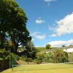 Spectacular setting for our tennis court