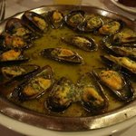 Mussels with snail butter