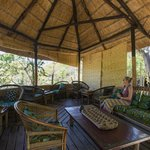 Mumbo's peaceful lounge area under a baobab treee