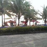 View of the beach from the outdoor restaurant