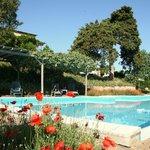 Grosser Swimmingpool auf dem Landgut «Le Valli», Toskana