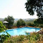 Pool mit Aussicht in die Toskana. «Le Valli»