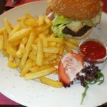 Yummy burger and fries