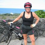 biking in Kona just above the Seaspray