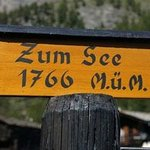Located off the Furi track down to Zermatt