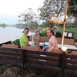 Chilling Lounge mit Blick zum River Kok