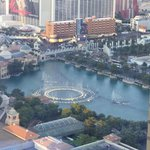 View of the Bellagio fountains