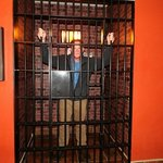 The Dodge City jail in the lobby