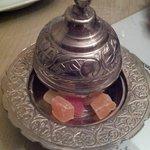 Detalle de delicias turcas