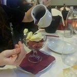 gelato con crema di cioccolato fondente