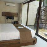 waterfall villa bedroom