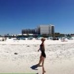 clearwater beach, hilton is in the middle