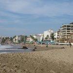 Looking north on Playa de los Muertos