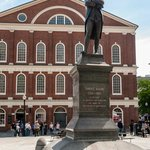 Statue of Sam Adams in Front