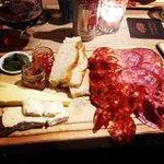 Two meat and two cheese platter for £13