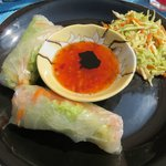 Yum!  Spring rolls.  You can always have seconds (and thirds!)...don't be shy.