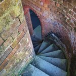 descending spiral staircase from a lookout