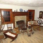 Furnishing of a log cabin