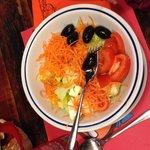 A salada serve 2 pessoas...