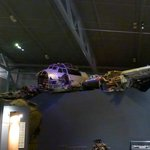 The recently recovered remains of a Luftwaffe aircraft.