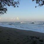Playa cerca de las cabinas