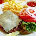 Burger ($12, add Blue jack $2)