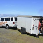 van and bike trailer
