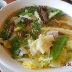 egg noodle won ton