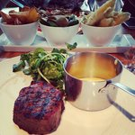 Fillet - looks well done, but it was spot on medium rare inside