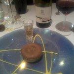 Favoloso flan cioccolato, pere e rum