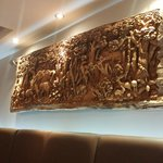 Traditional wood carving on the wall