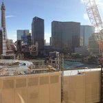 Construction next door with Bellagio fountain
