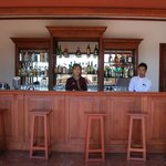 Bar next to entrance to dining room (bar is outside)