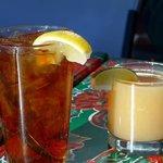 Ice tea and grapefruit juice