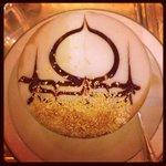 The signature 24 carat gold cappuccino
