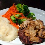 Mushroom hamburger steak